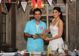 Jacqueline Fernandez and Chef Kunal Kapur cooking up a storm for Food Revolution Day