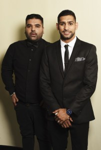 Naughty Boy (L) and Amir Khan attend The British Asian Trust Iftar Evening  [Image Credit: Dave J Hogan]