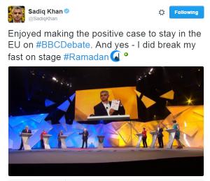 sadiq khan tweet