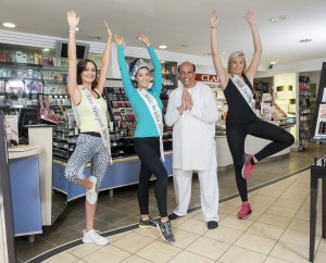 Crowned beauty queens Miss Wales, Miss Swansea and Miss Newport all joined in with the day's celebrations
