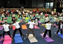 Welsh First Minister joins Honorary Consul of India for Wales to lead International Yoga Day Celebrations