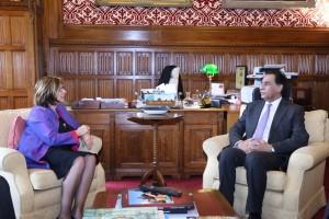 Baroness D'Souza with Sardar Ayaz Sadiq