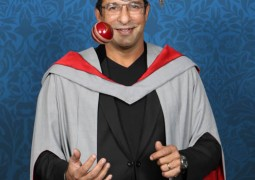 Former Lancashire and Pakistan bowler Wasim Akram awarded prestigious academic award