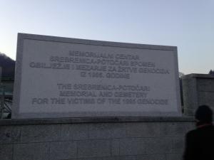 remembering Srebrenica memorial