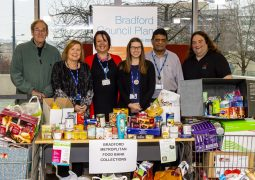 Bradford Council staff donate food item to families this Christmas