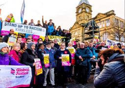 Batley community comes together for Stand up to Racism rally